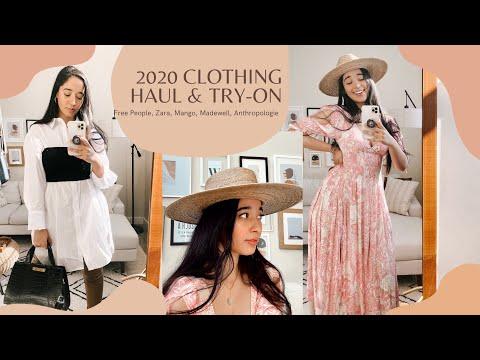 2020-clothing-haul-&-try-on-|-free-people,-zara,-mango,-madewell,-anthropologie,-glossier