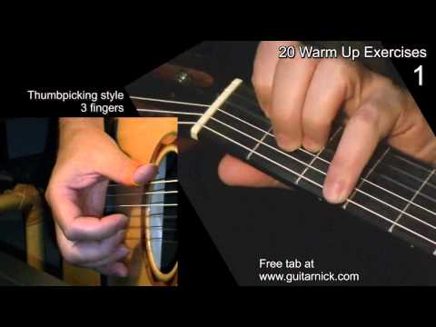 WARM UP FINGERSTYLE EXERCISE 1: Guitar Lesson + TAB by GuitarNick