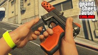 NUEVA SUPER ARMA! PISTOLA AMETRALLADORA!! - DLC GTA V ONLINE LOWRIDERS