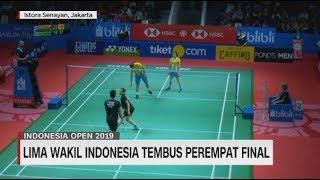 Lima Wakil Indonesia Tembus Perempat Final Indonesia Open 2019