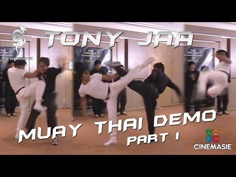 Tony Jaa Muay Thai Demo (Part 1) [Paris - 2005]