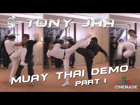 Tony Jaa Muay Thai Demo - Paris 2005 Travel Video