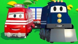 Super Truck a Vlak | Animák z prostředí staveniště s auty a nákladními vozy (pro děti)