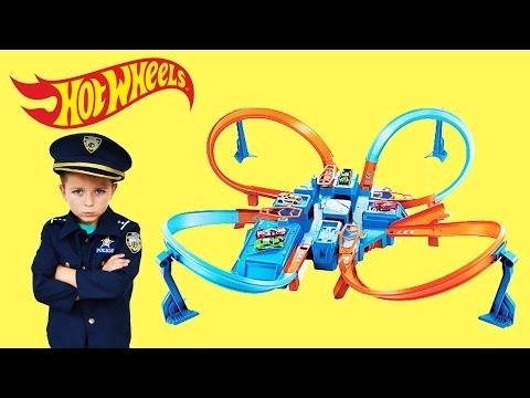 Officer Ryan Unboxes Hot Wheels Criss Cross Crash + 22 HOT WHEELS CARS a YouTube Kids Video