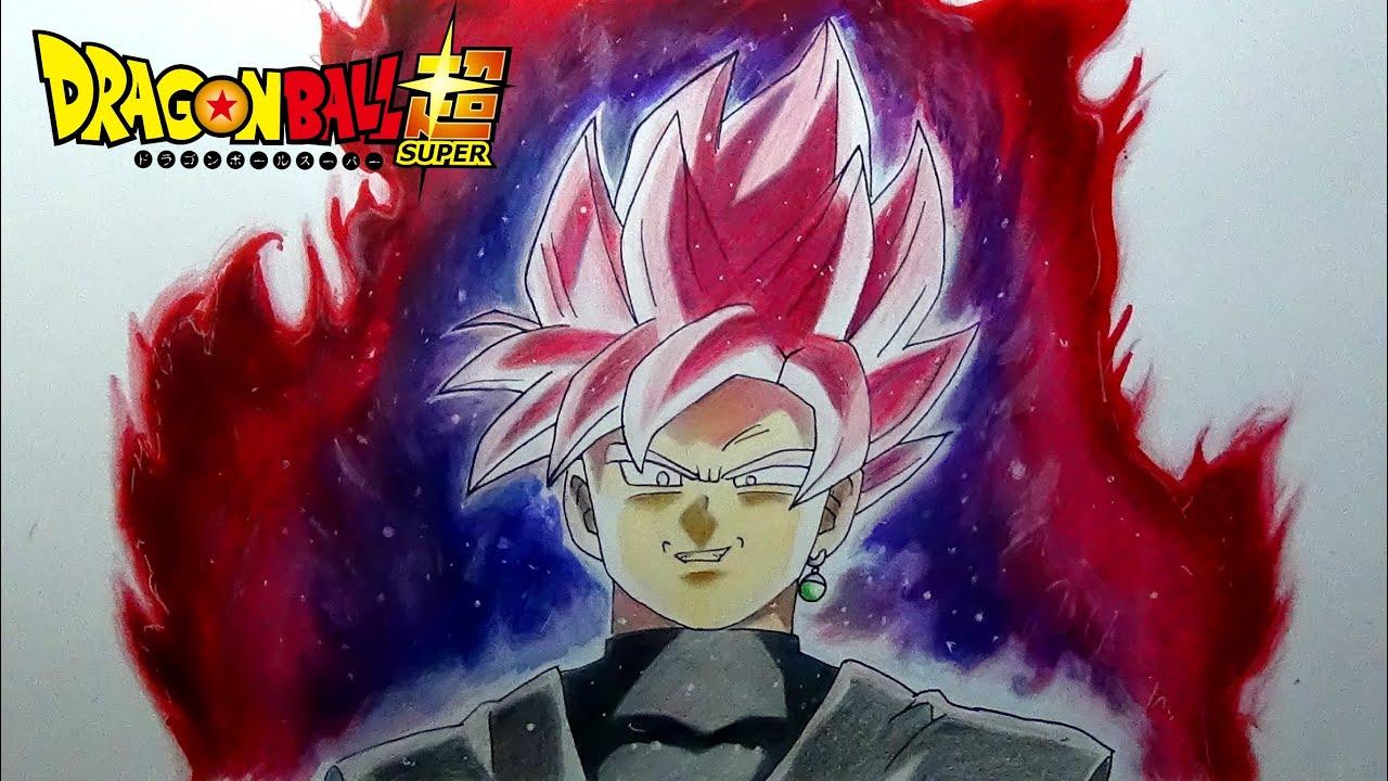 Cómo Dibujo Yo A Goku Black SSJ Rose Con Lápices De
