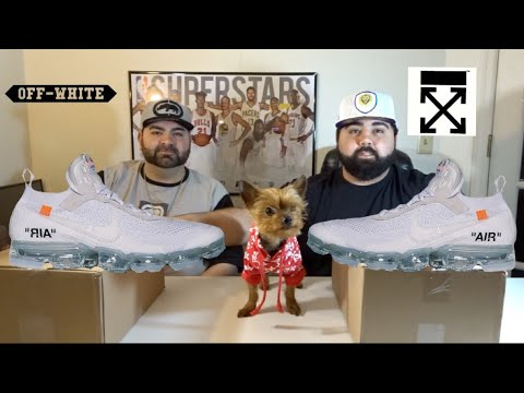 9a3da43b845 Off White Vapormax (WHITE) 2018 Early Look 2 PAIRS! - YouTube