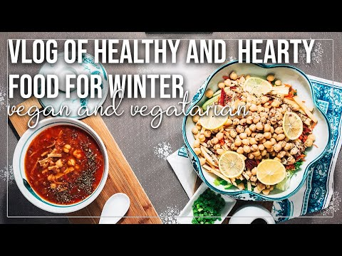 Silent Vlog | A Day Full of Healthy and Cosy Winter Food | Vegan Chickpea Salad & Green Lentil Soup