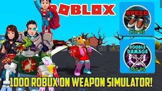 WE SPEND ROBUX ON SWEET UPGRADES | Roblox Weapon Simulator