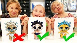 Download 3 МАРКЕРА ЧЕЛЛЕНДЖ с МАМОЙ / 3 MARKER CHALLENGE w/ our MOM ! LOL dolls KIDS EDITION Детская версия Mp3 and Videos