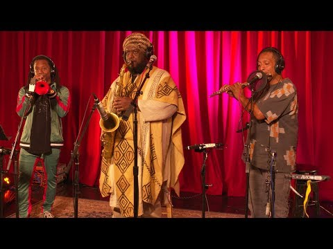 Kamasi Washington performing