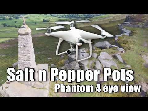 Phantom 4 Drone over the 'Salt and Pepper Pots' in Yorkshire