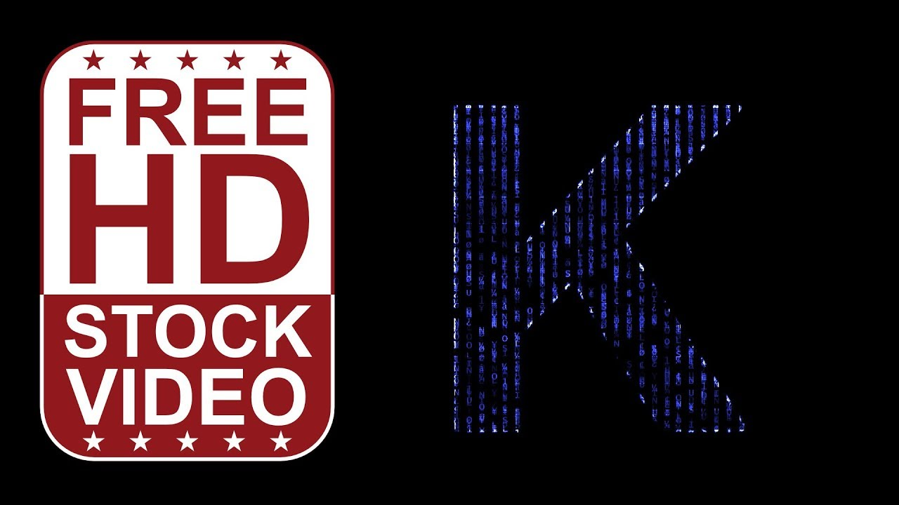 Free hd video backgrounds animated letter k with blue matrix free hd video backgrounds animated letter k with blue matrix code falling effect seamless loop 2d thecheapjerseys Choice Image