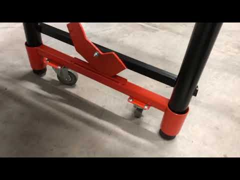 New Design for Retractable Casters on a Metal Bench