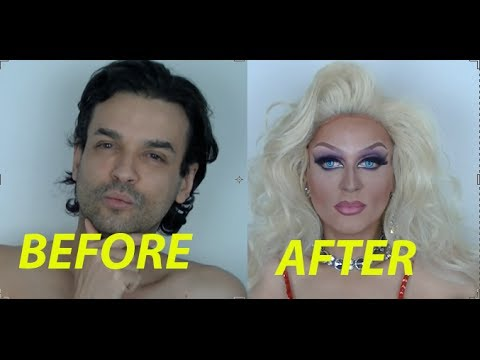 Drag Queen Makeup Transformation From