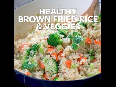 Healthy Brown Fried Rice With Broccoli & Vegetables - Healthy Never Tasted So Good!