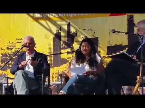 Panel (2) con Ruben Luengas, Miguel Tinker Salas, Reyna Grande y Eileen Truax