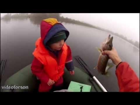 Pike fishing on the mug with a child2