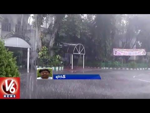 Sudden Rain Lash Hyderabad City | Weather Update | V6 News
