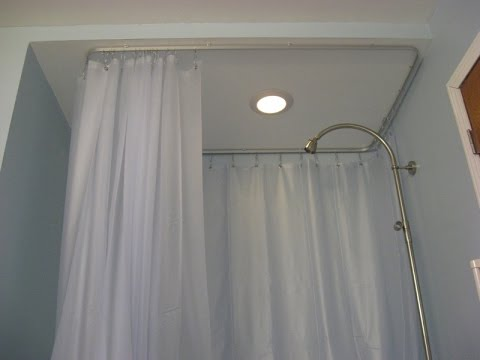 Ceiling Mount Shower Curtain Rods - YouTube