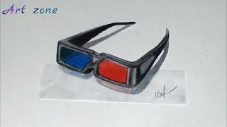 Как нарисовать 3D РИСУНОК на бумаге карандашом  3Д очки  How to draw 3D(Как нарисовать 3D РИСУНОК на бумаге карандашом. How to draw 3D. Здравствуйте, в этом видео вы увидите, как нарисоват..., 2016-03-23T13:44:02.000Z)