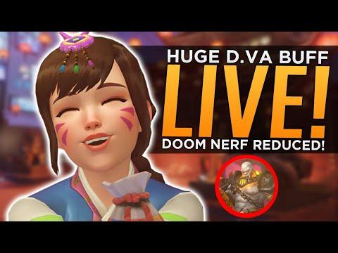 Overwatch: HUGE D.Va Buff LIVE! - Doomfist NERF Reduced!
