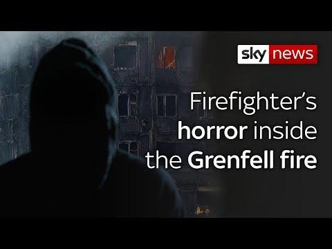 Firefighter's horror inside