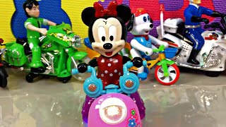 Motorcycle Parade|Dancing Toys Minnie Mouse, Ben 10, Spider-man and friends