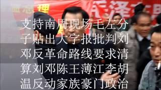 支持南周现场毛左分子贴出大字报批判刘邓反革命路线要求清算刘邓陈王薄江李胡温反动家族豪门政治