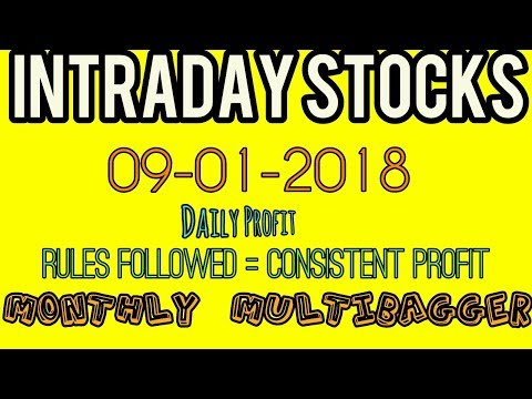 Day trading stocks 09-01-2018  Best stocks with huge potential for intraday