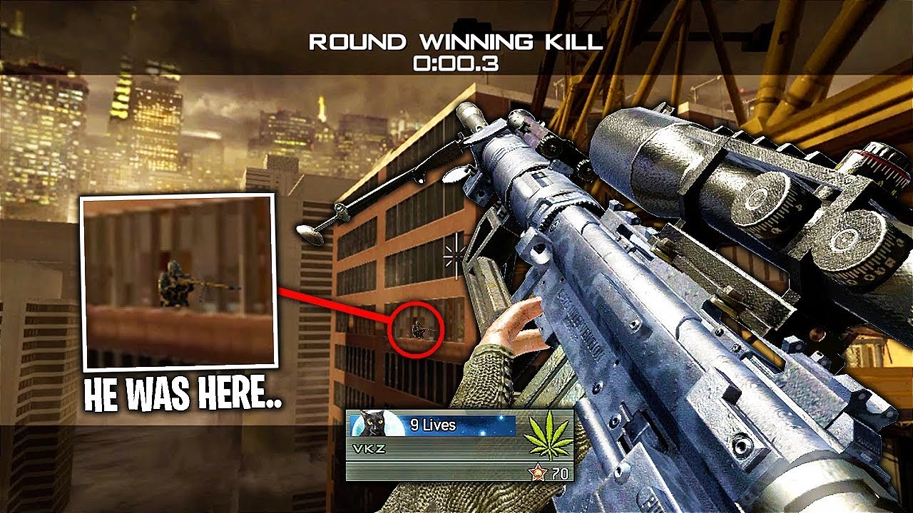 IT TOOK ME OVER 9 YEARS TO HIT THIS TRICKSHOT ON MW2! (MW2 SND  Trickshotting)