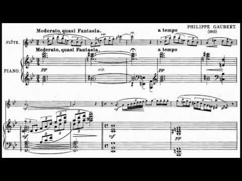 Philippe Gaubert - Fantaisie pour flûte et piano (1912)