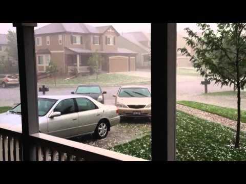 Hail Storm In Greeley CO