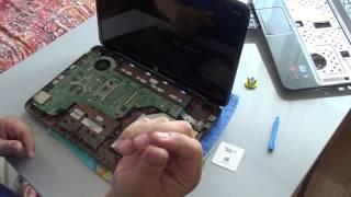 как разобрать и собрать ноутбук HP g6 , колхозный ремонт крепления петли