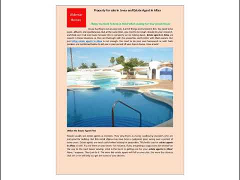 Property for sale in Javea and Estate Agent in Altea