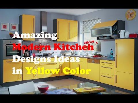 Yellow Kitchen Design Amazing Modern Kitchen Designs Ideas In