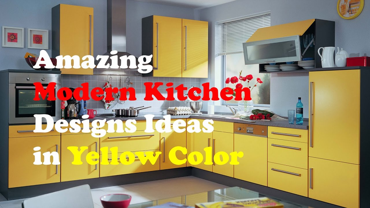 amazing green yellow kitchen | Yellow Kitchen Design: Amazing Modern Kitchen Designs ...