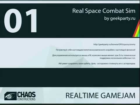 CC14 Live: Realtime Gamejam - #1 'Real Space Combat Sim'