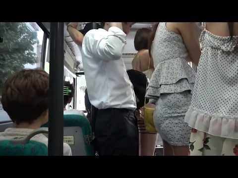 Japonya'da Otobüste Taciz!!! (Guy in japan harasses in bus)