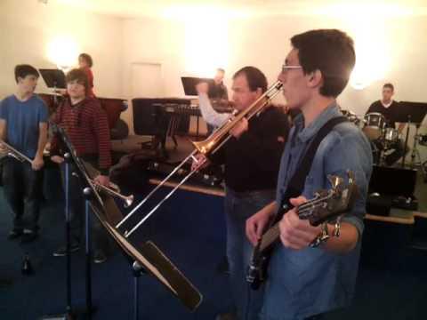 Répétition école de musique de Mamers, décembre 2012