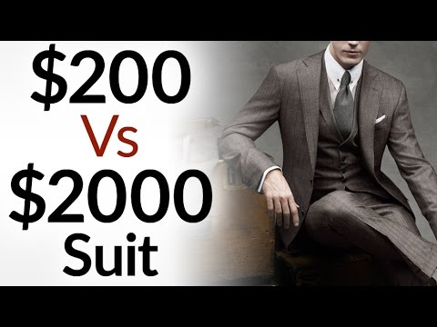 $200 Vs $2000 Men's Suit | 5 Differences Between Low & High ...