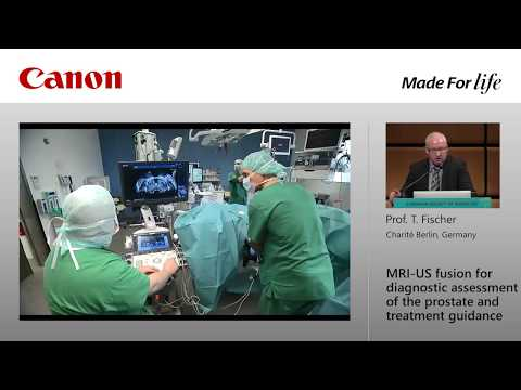 """Prof. T. Fischer at ECR 2018 - """"MRI-US fusion for diagnostic assessment of the prostate..."""""""