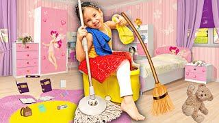 Быстрая уборка детской комнаты, рум тур вместе с Яной. Наводит порядок в детской. Детский Влог.