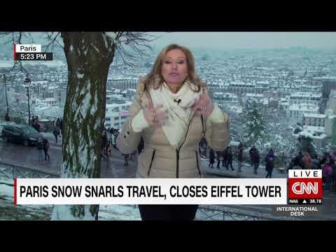 Record snowfall in Paris