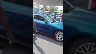 Mustang Driver crashes into a car while evading metro cops