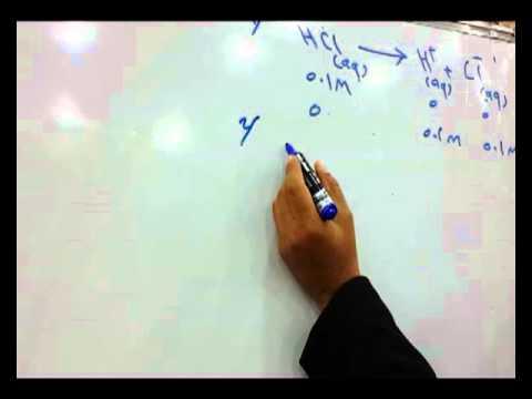دروس الكيمياء : الاتزان الايوني الدرس الأول