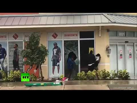 Looting caught on camera after Hurricane Irma hit Florida