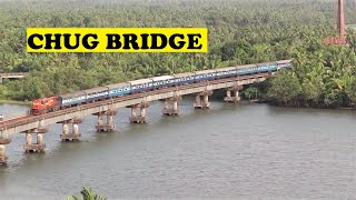 WDG3A Ernakulam Pune Sharavathi River Bridge