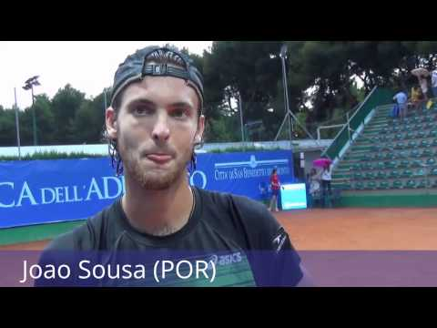 ATP Ch San Benedetto. Joao Sousa on court interview