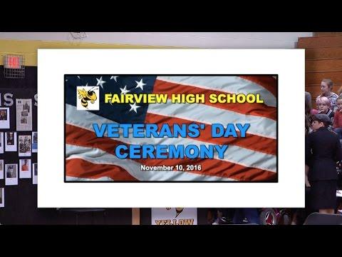 2016 11 10 EVENT FVHS FMS JROTC Veterans Day Ceremony