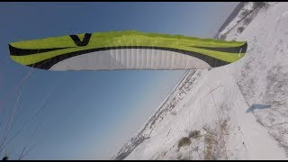 Winter is back. Paragliding Kharkiv city. Fun soaring.